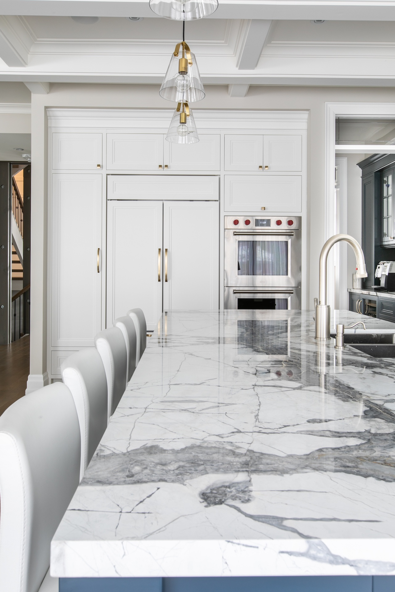 Marble island counter