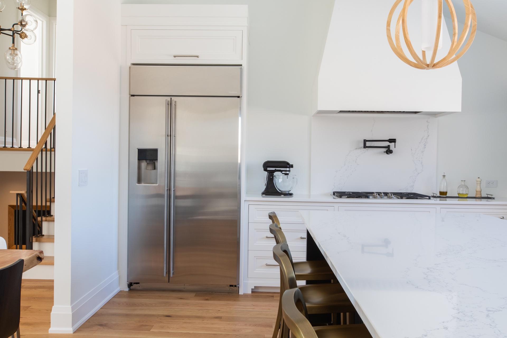 Kitchen fridge and stove