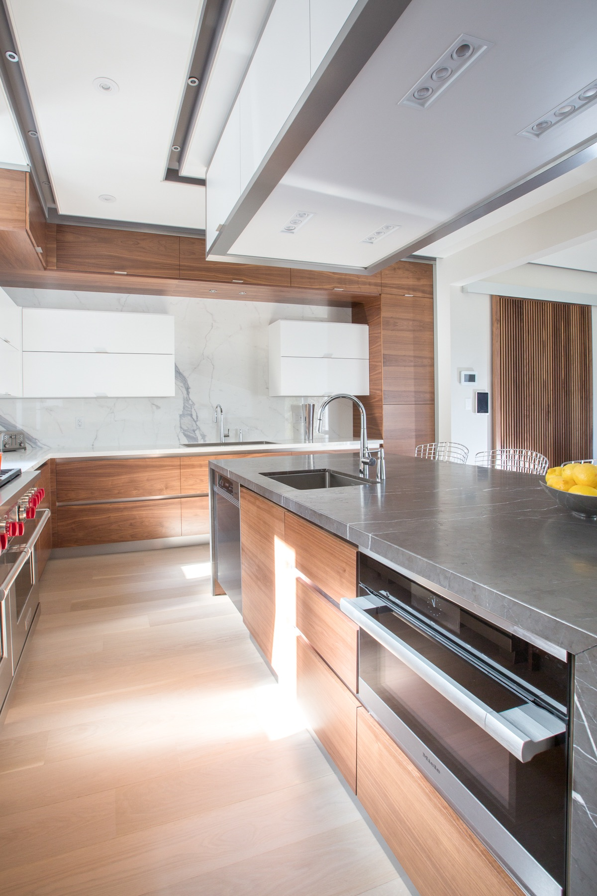 wood contemporary kitchen