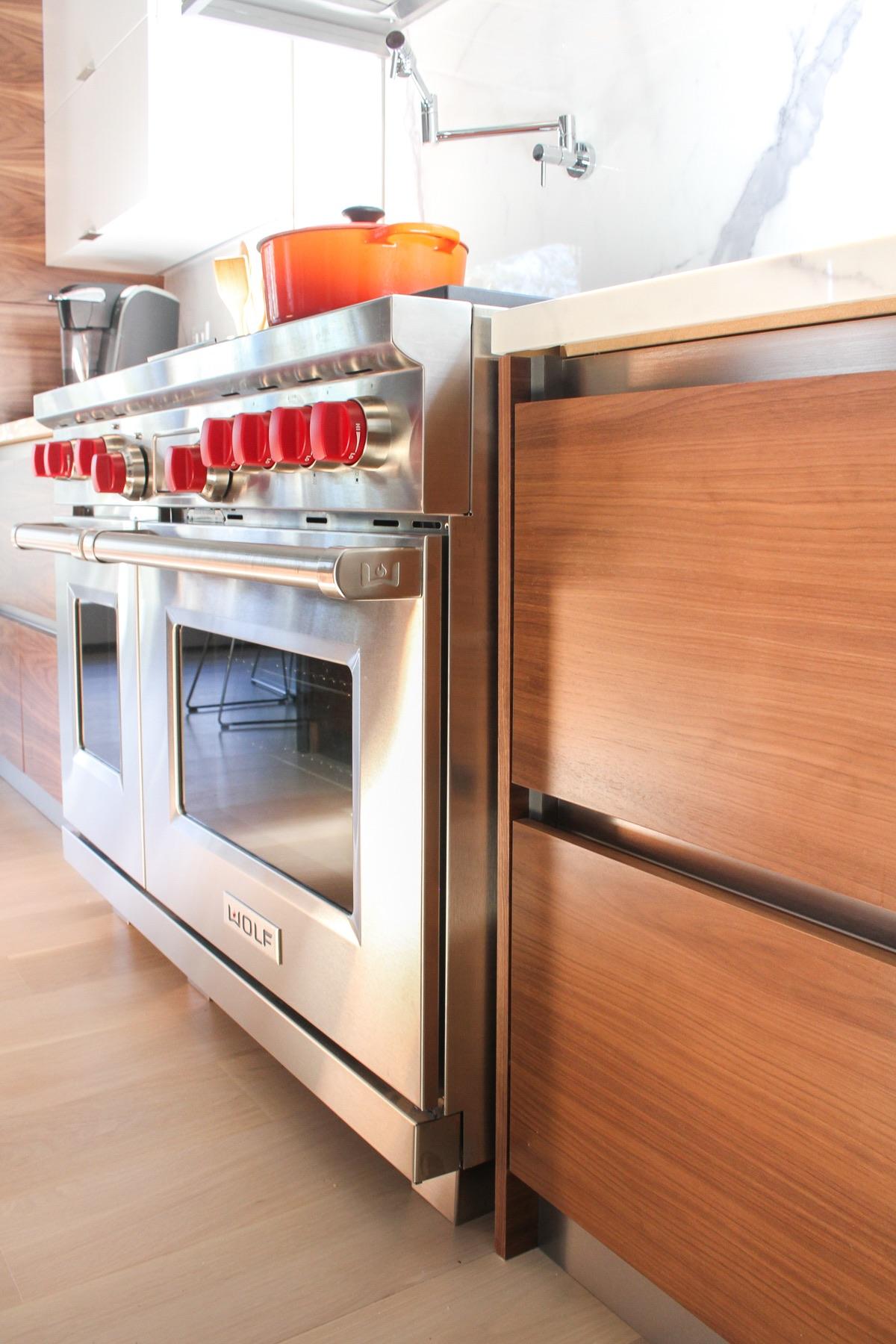 wood drawer and stove