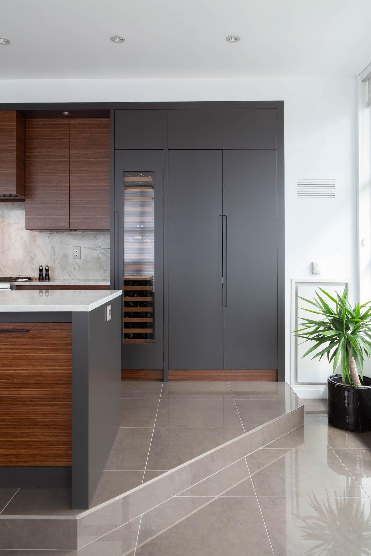 dark and light wood kitchen