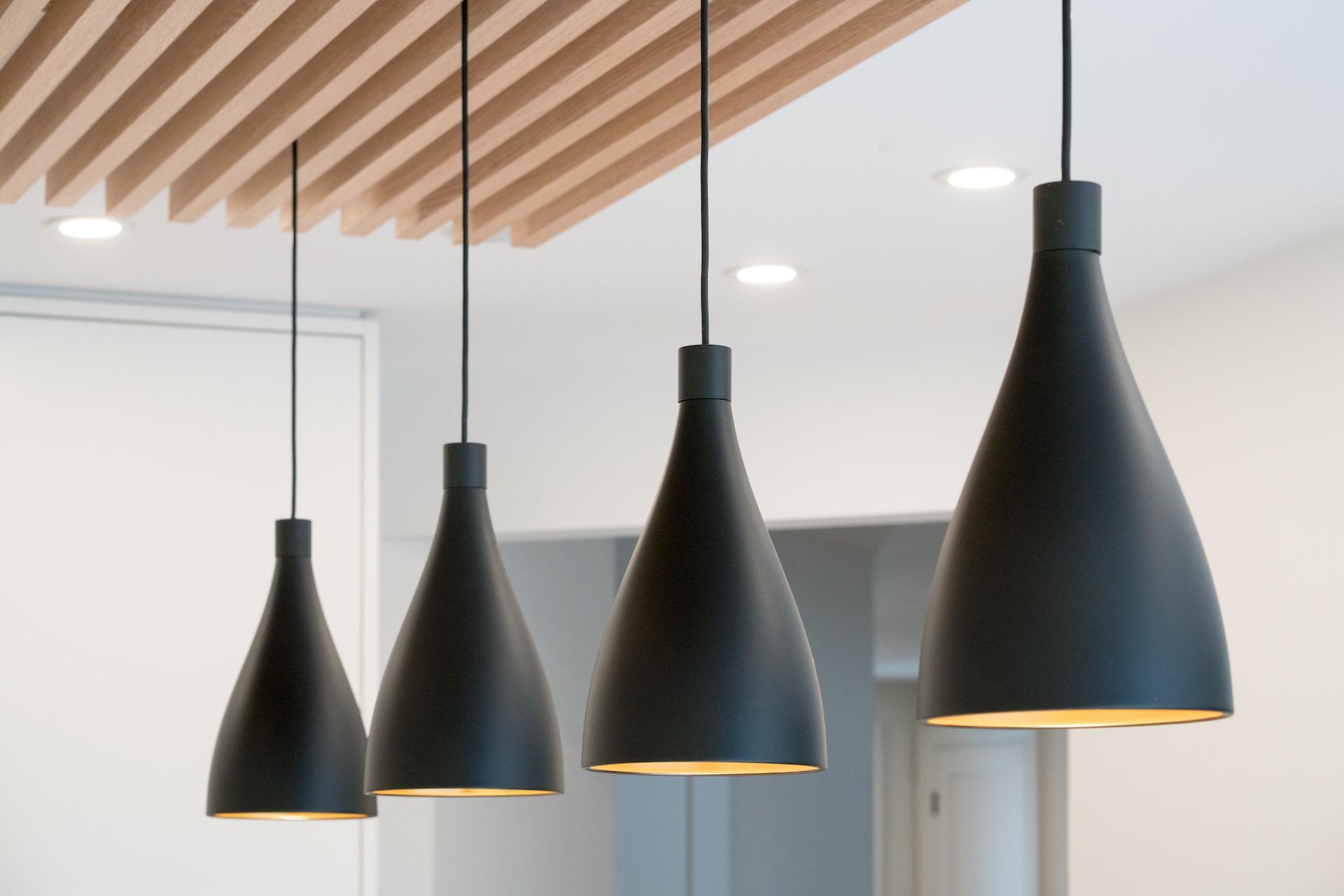 black hanging lights