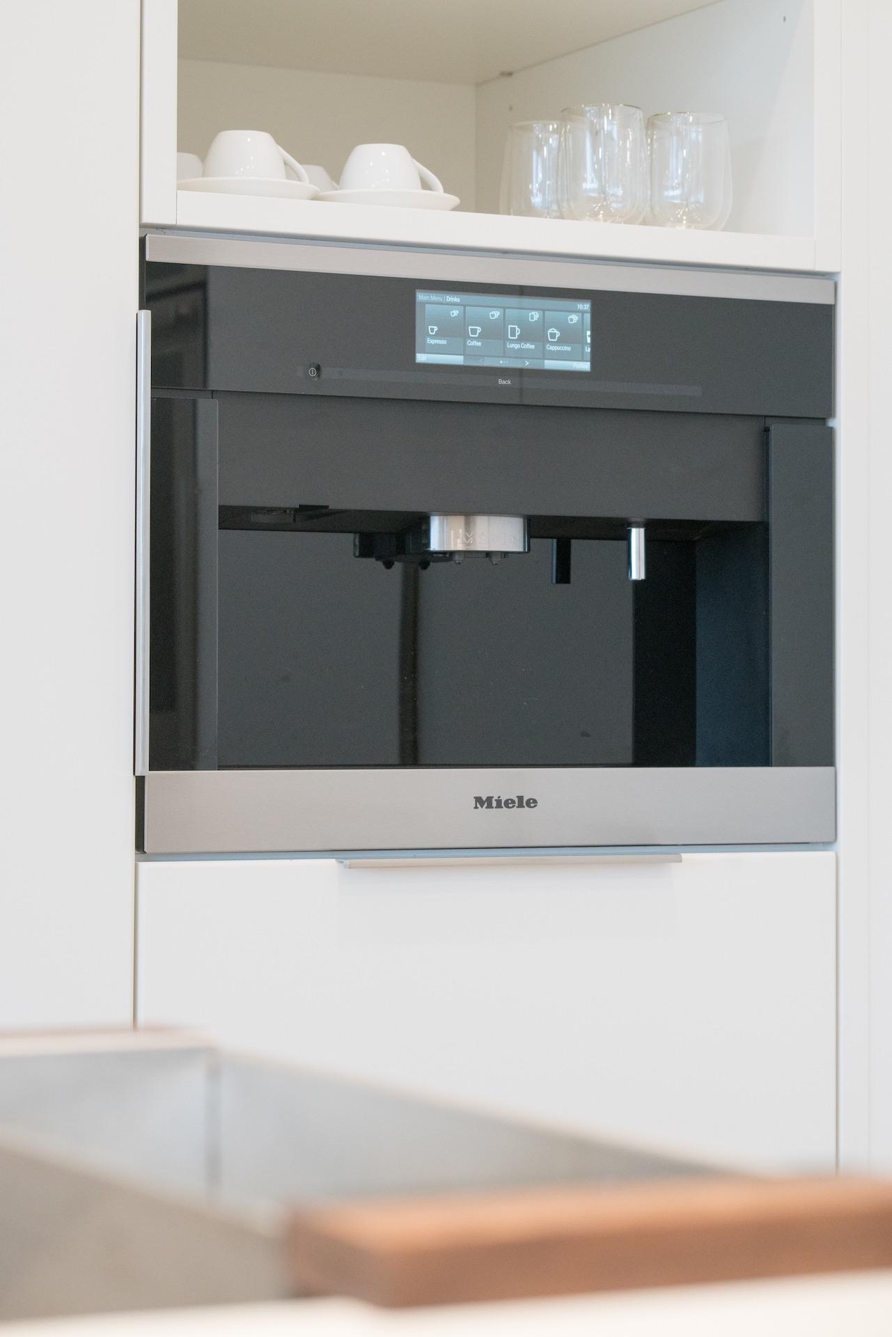 Espresso machine in kitchen