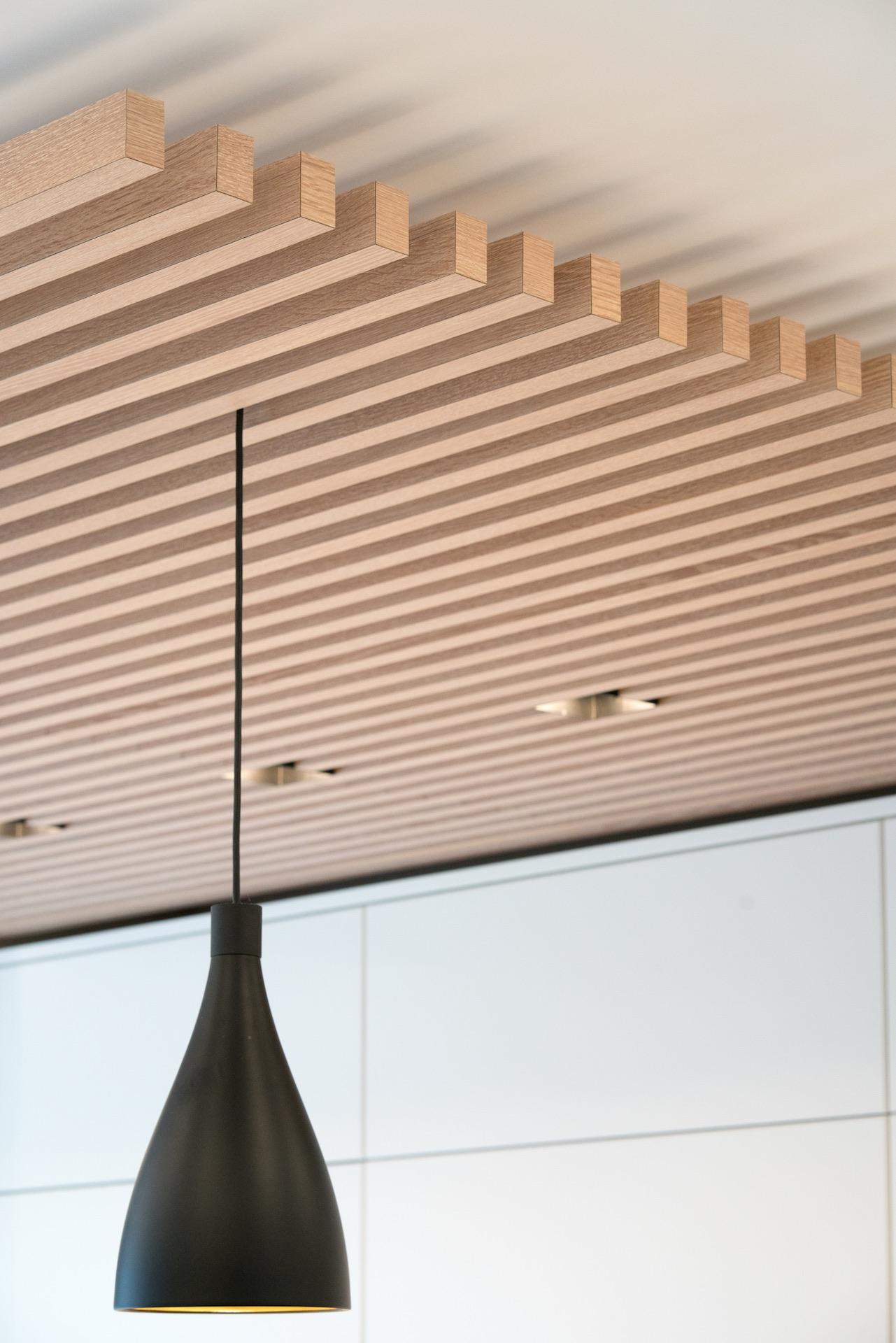 wood panels on ceiling