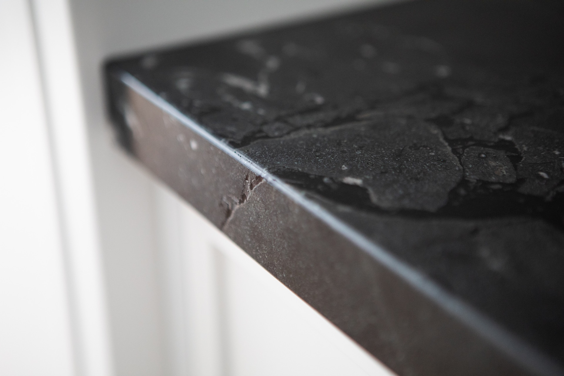 Black marble counter top