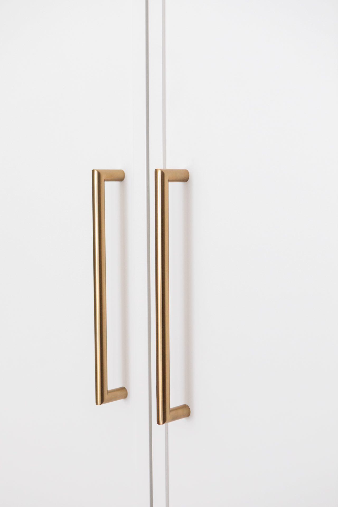 Gold cabinet handles
