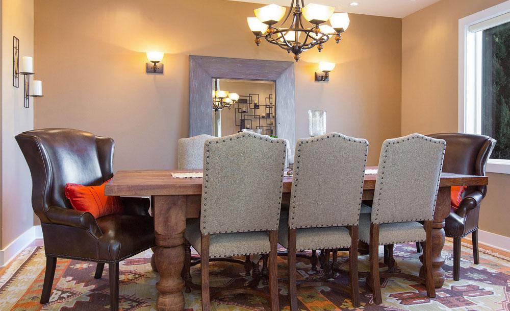 Rustic Lodge Dining Room Industrial Lighting