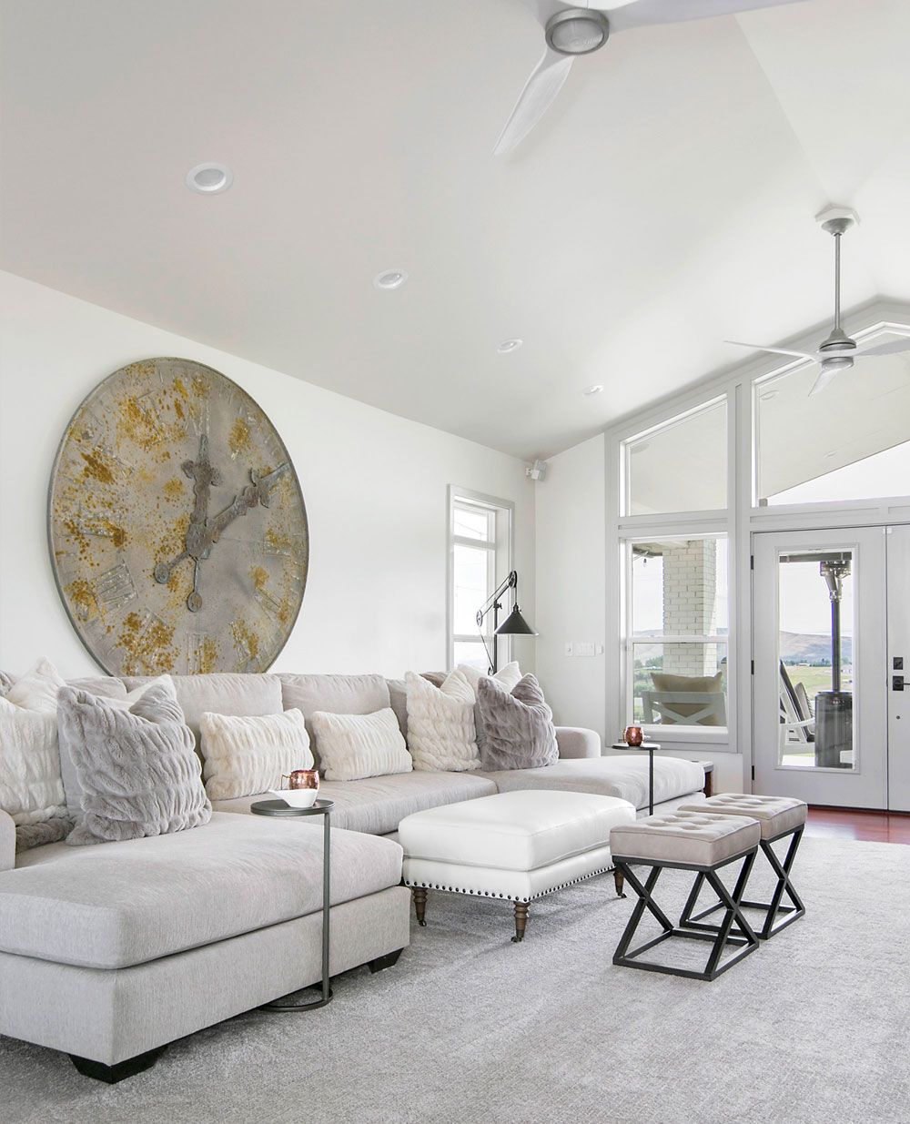 Transitional Living Room Large