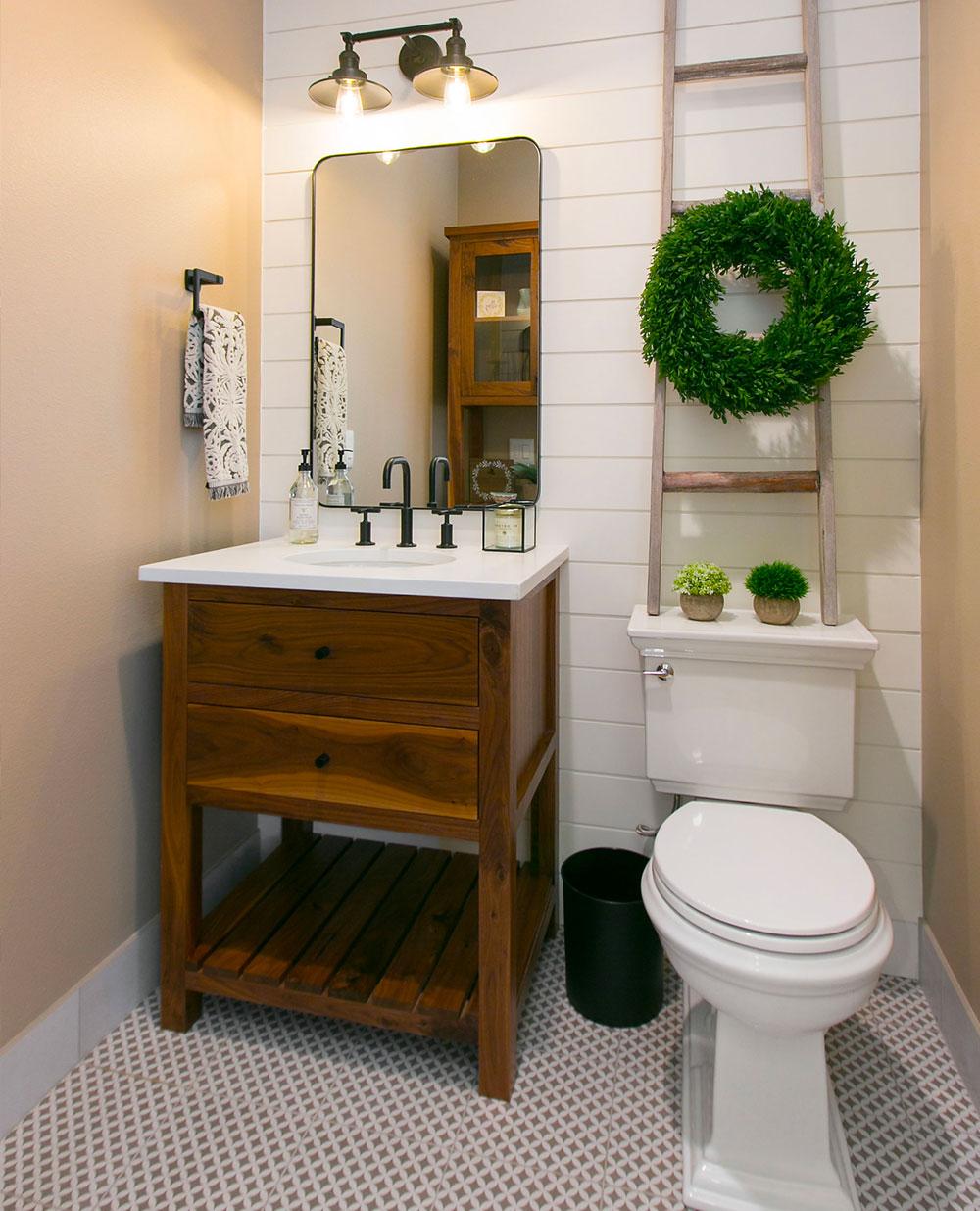 Rustic Lodge Bathroom Wood Vanity