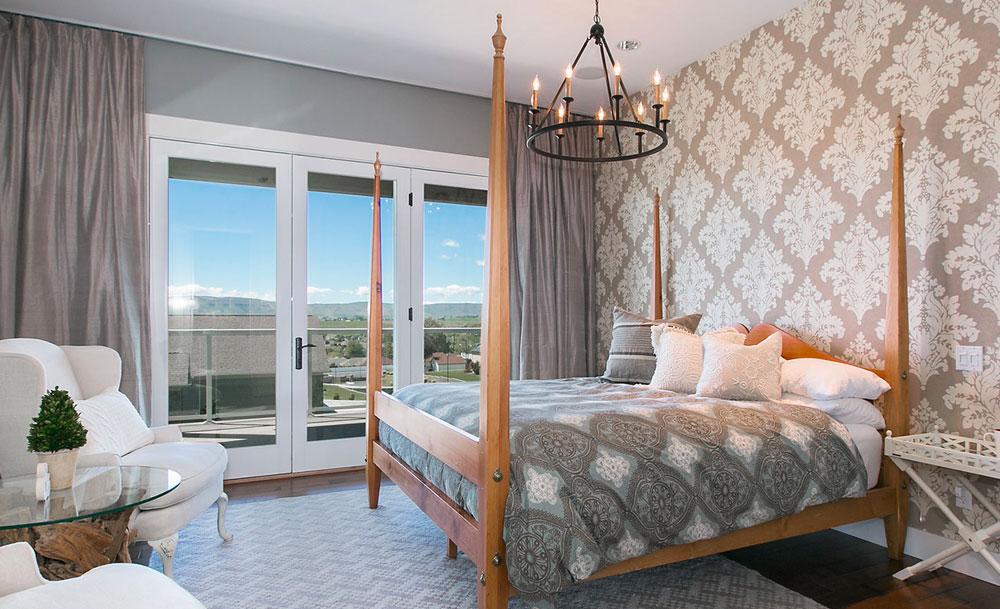 Transitional Master Bedroom Wallpaper