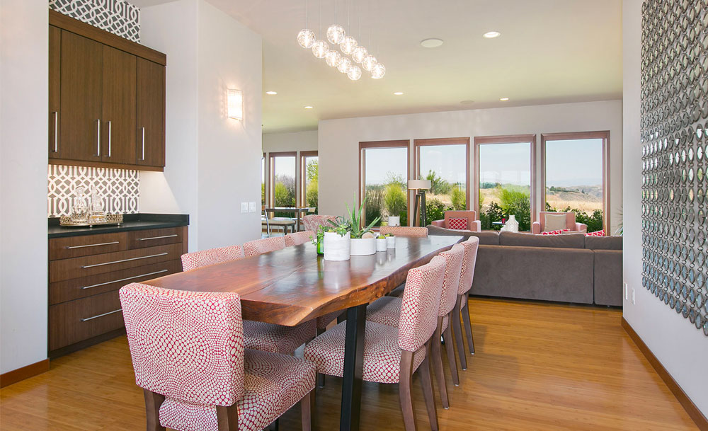 Transitional Formal Dining Live Edge Table