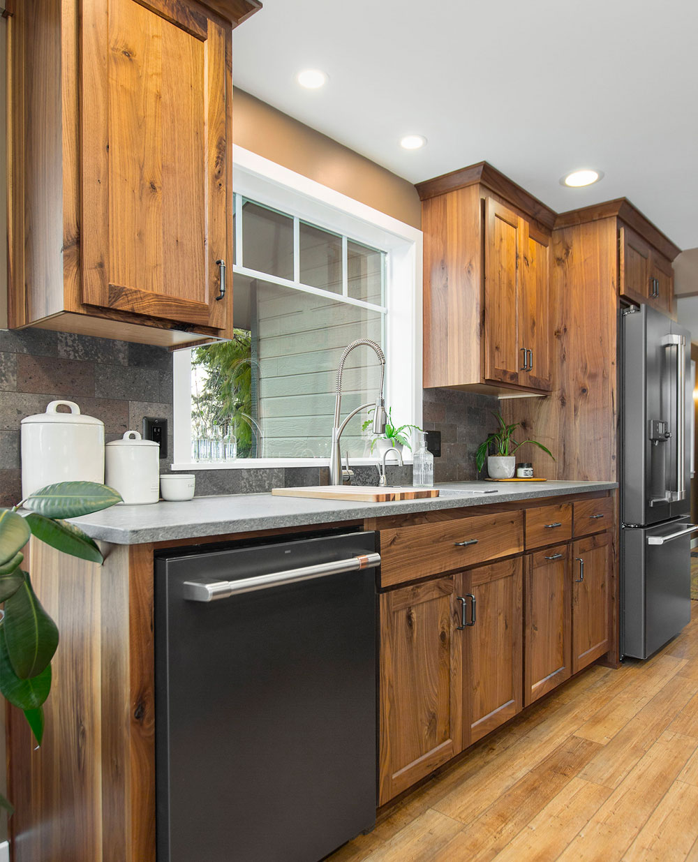 Rustic Cabin Kitchen Counter