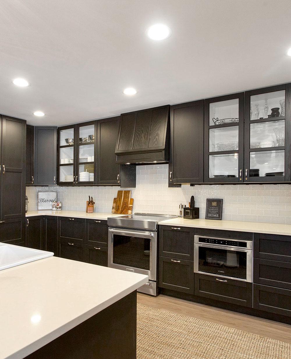 Rustic Lodge Kitchen Subway Tile Backsplash