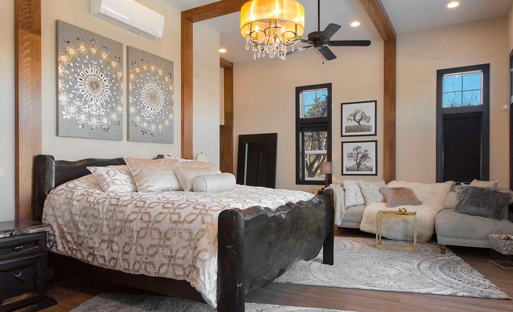 Rustic Lodge Master Bedroom Custom Live Edge Wood Bedframe