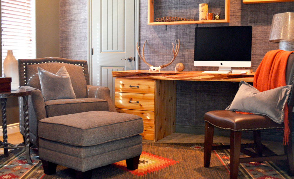 Rustic Cabin Home Office