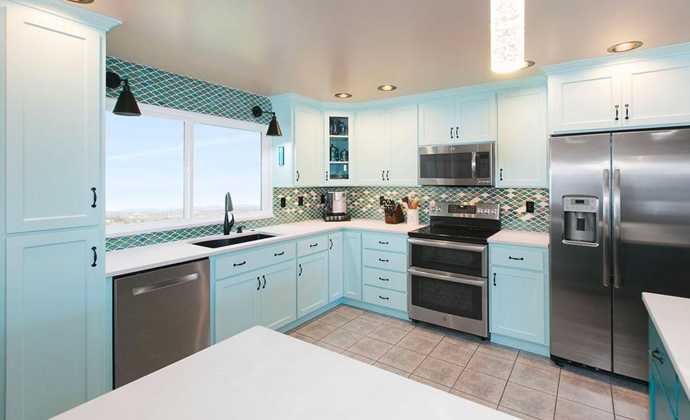 Eclectic Kitchen Light Blue