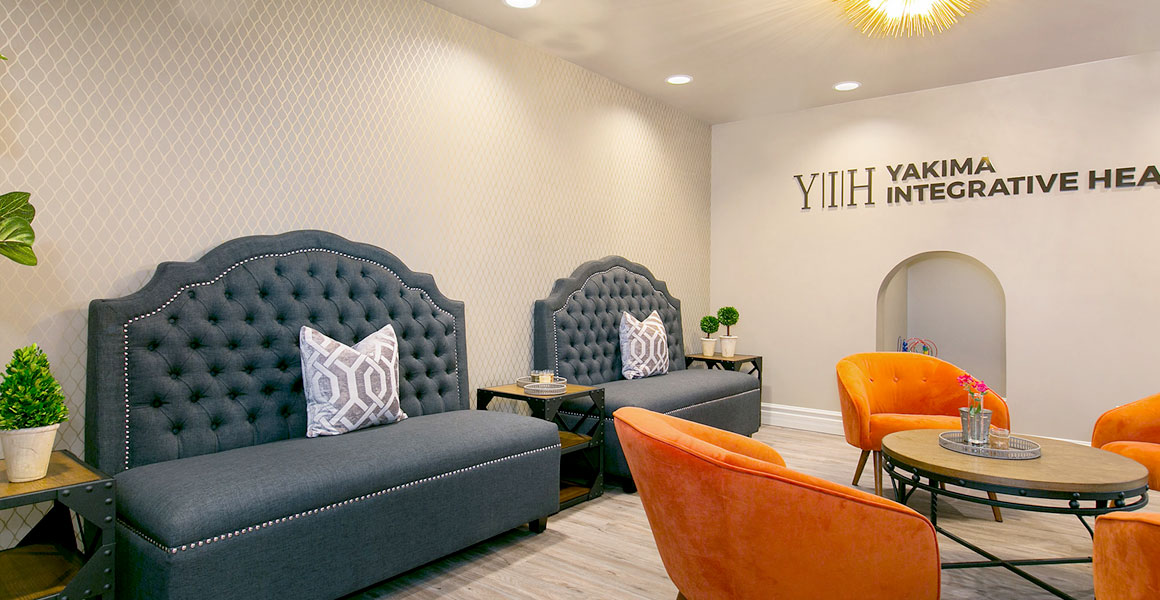 Transitional Commercial Lobby Seating Area Gray Orange