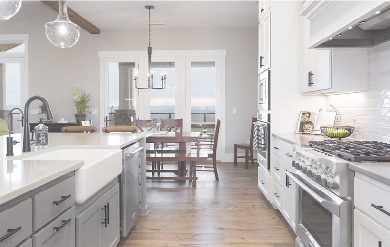 Modern Farmhouse Kitchen With Apron Sink