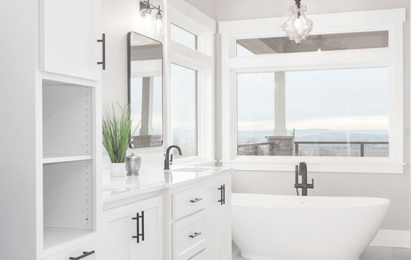Modern Farmhouse Master Bathroom With Tub