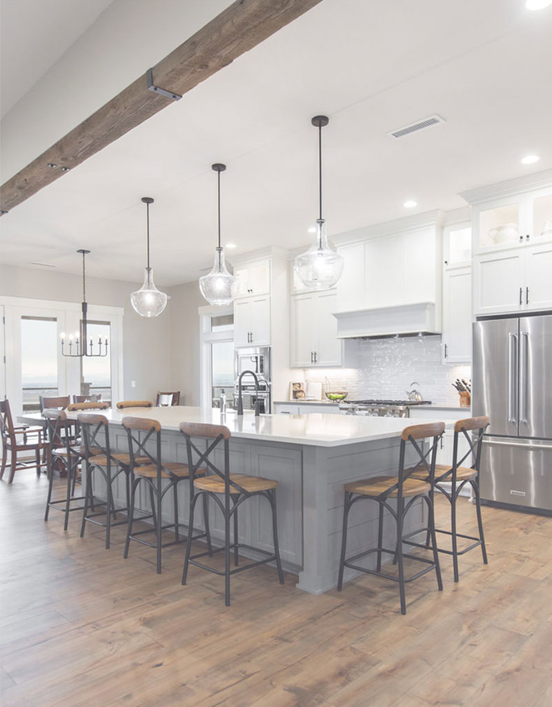 Modern Farmhouse Kitchen With Large Island
