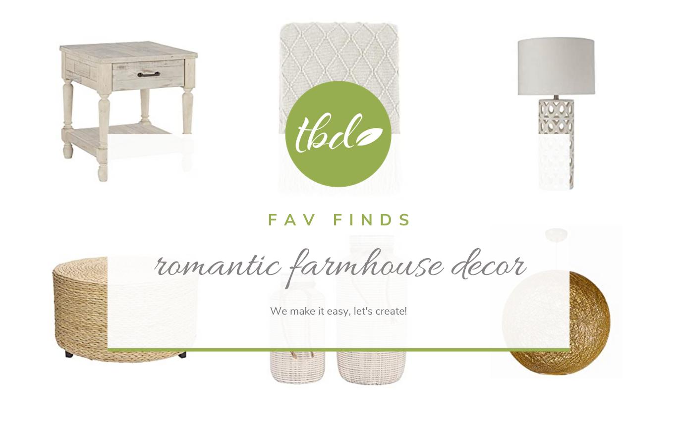 Decor: romantic farmhouse
