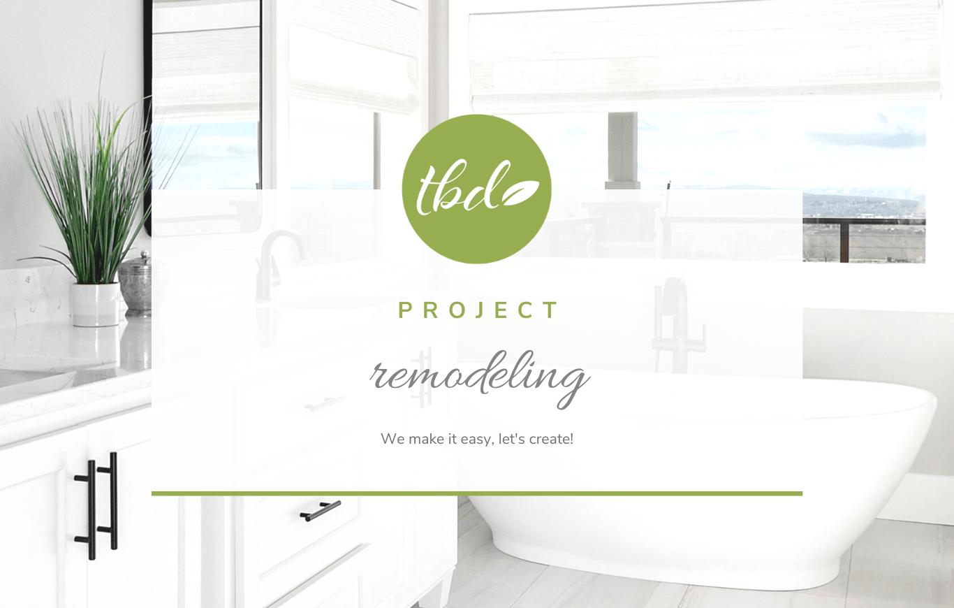 Remodel project for interior designer