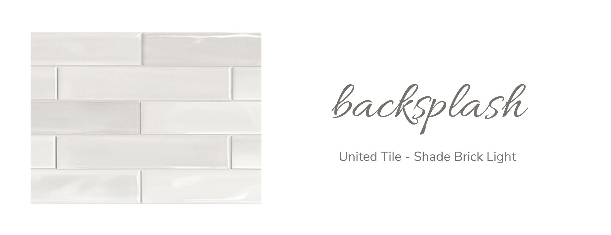 United Tile - Shade Brick Light Backsplash