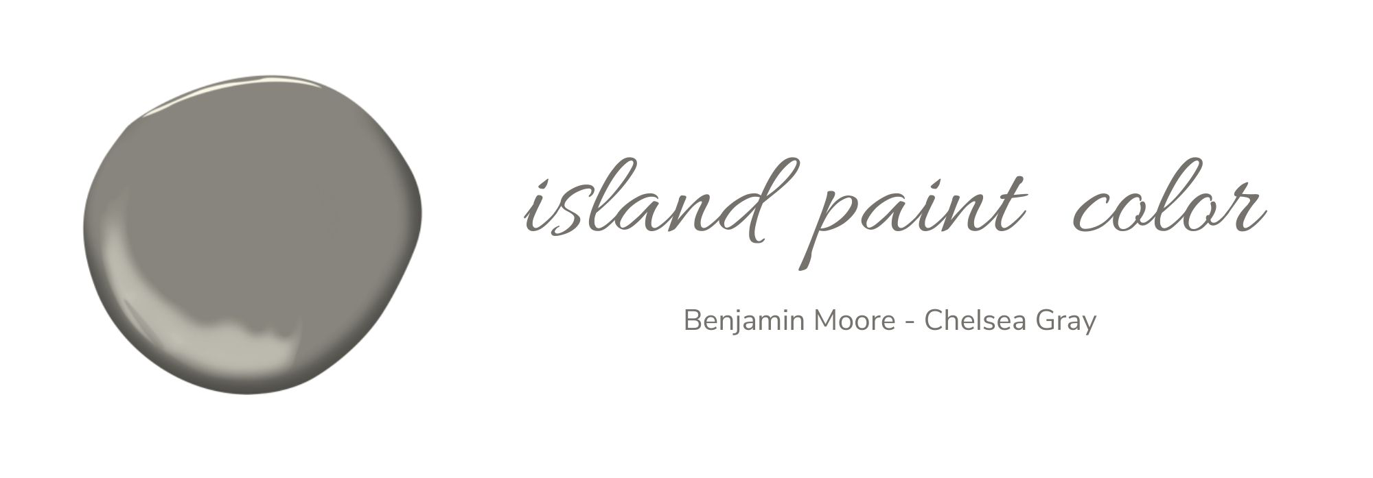 Benjamin Moore - Chelsea Gray Island Paint Color