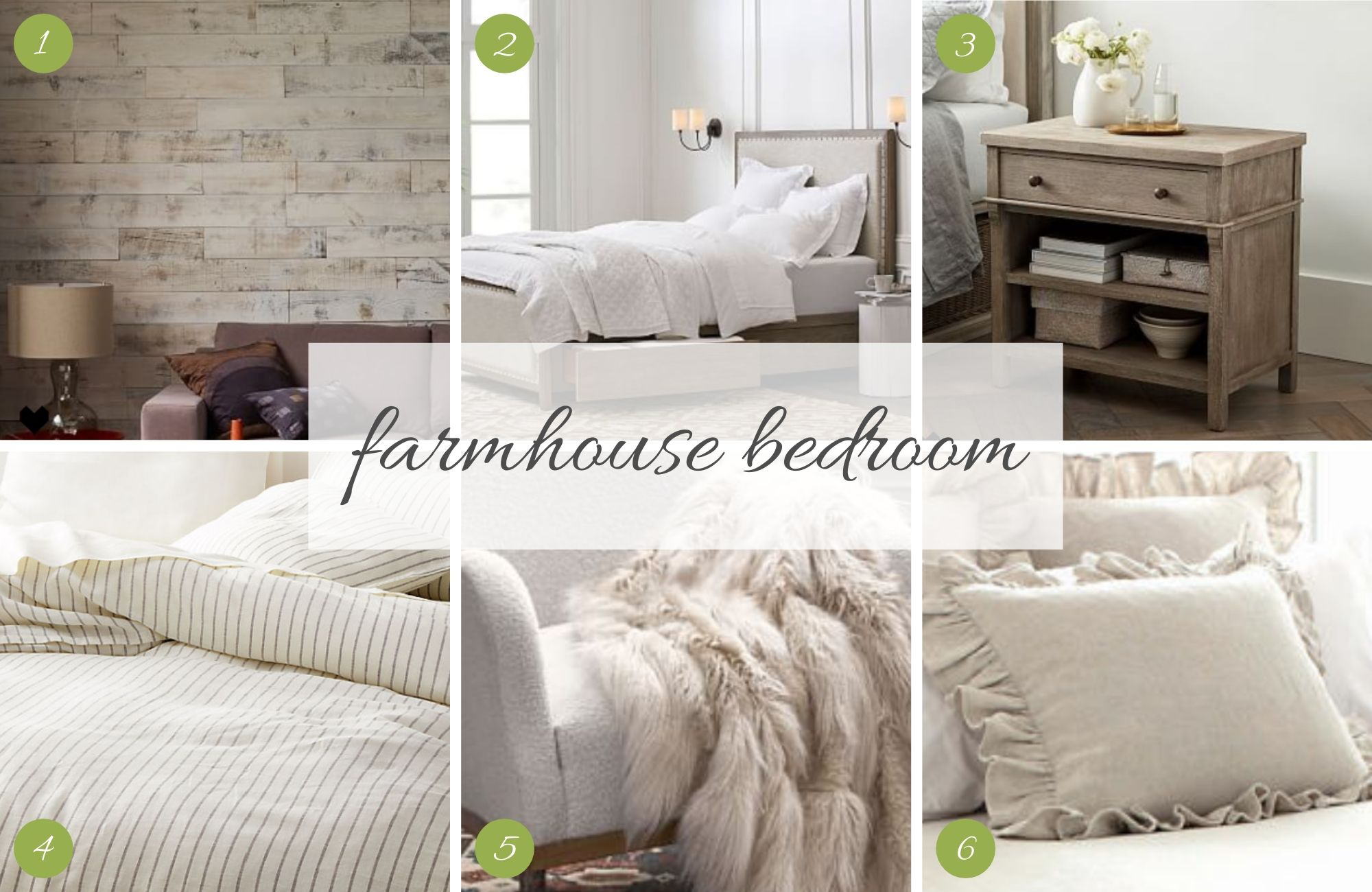 Master Bedroom Design - Romantic Farmhouse
