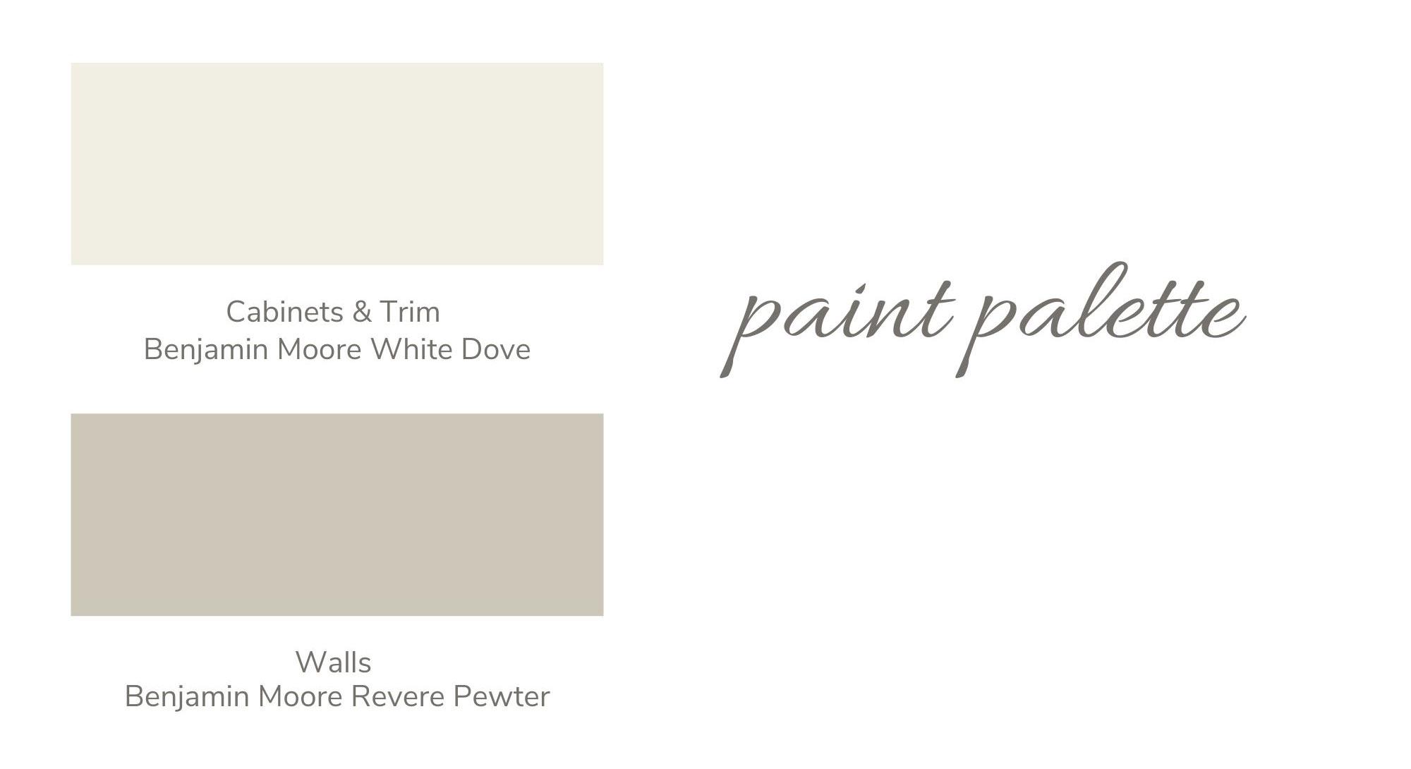 Cabinets & Trim | Walls - Paint Palette