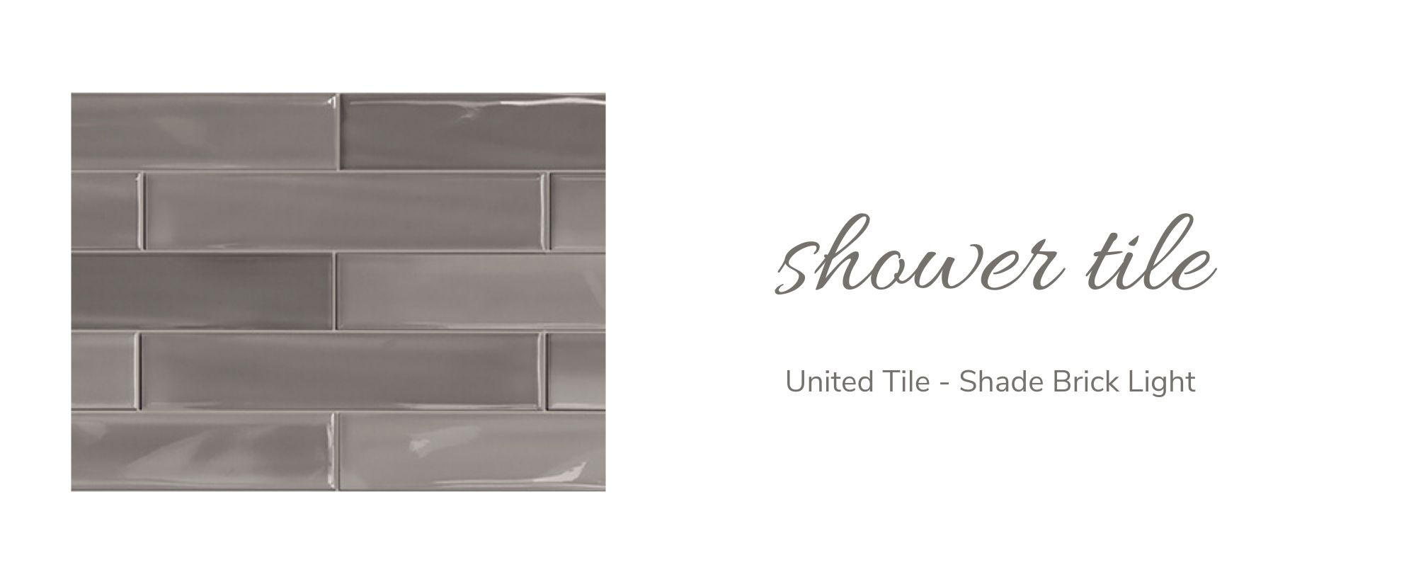 United Tile - Shade Brick Light Shower Tile
