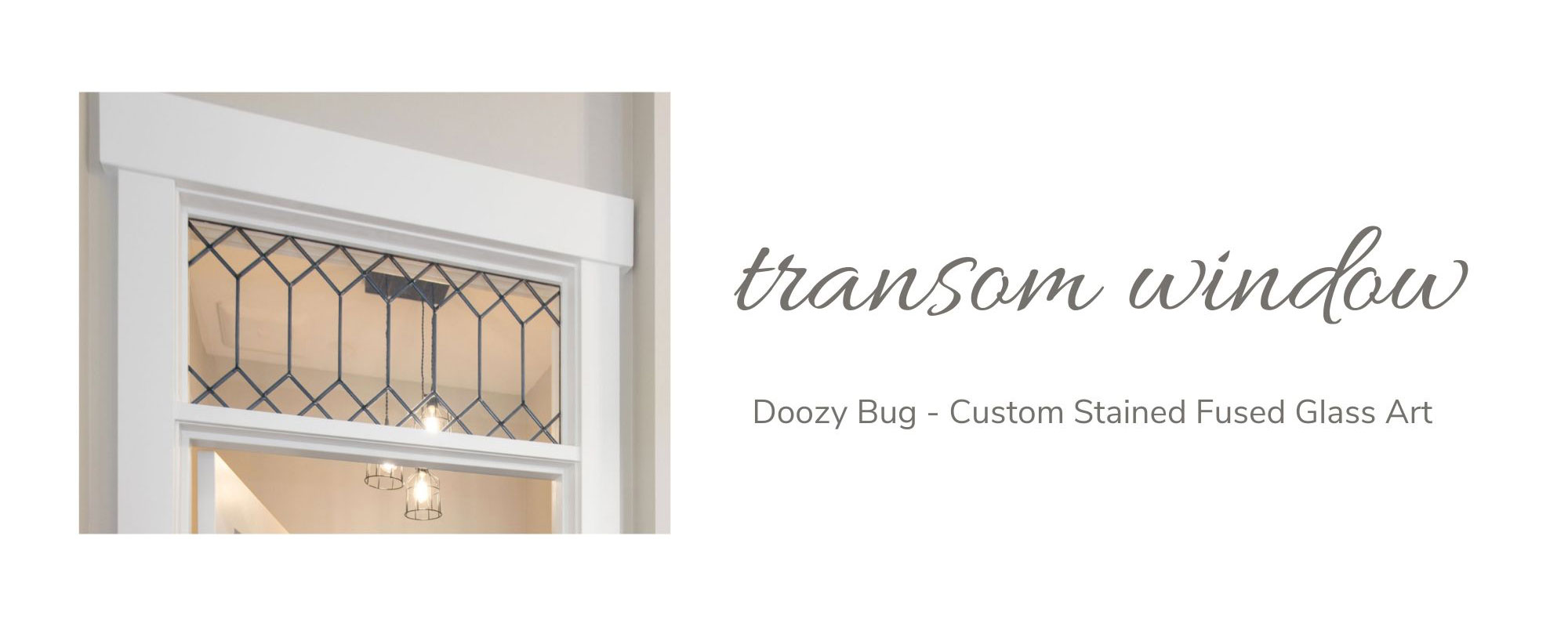 Doozy Bug - Custom Stained Fused Glass Art Transom Window