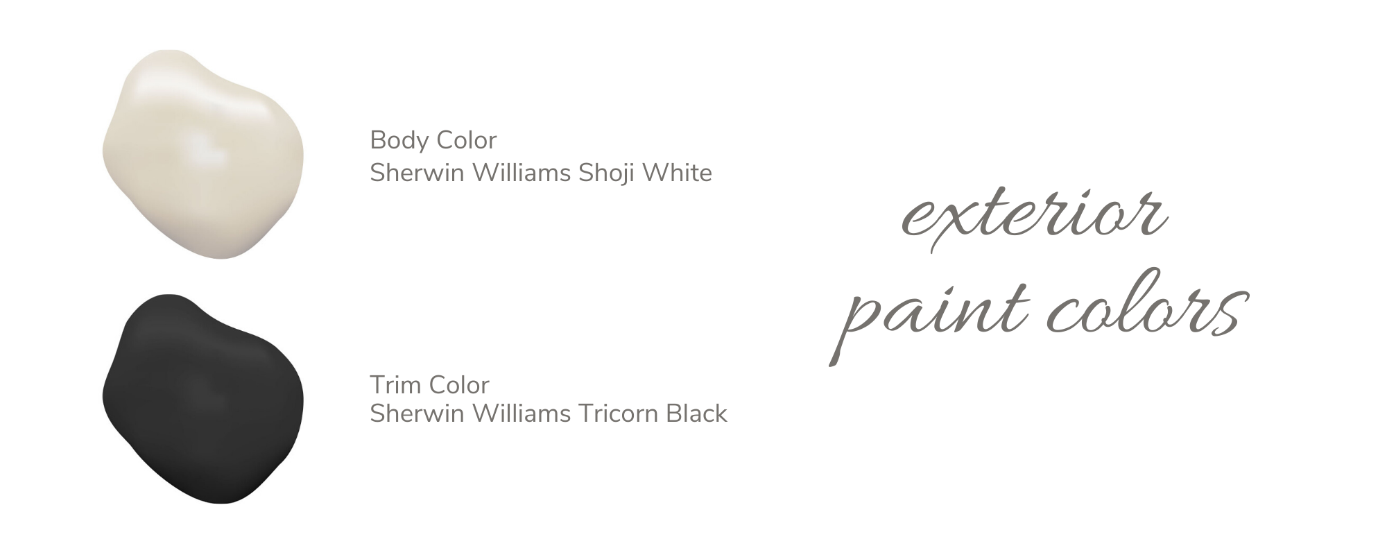 Exterior Paint Colors - White and Black