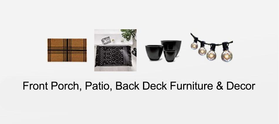 Front Porch, Patio, Back Deck Furniture & Decor