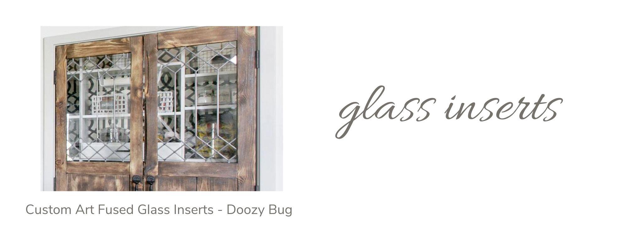 Custom Art Fused Glass Inserts by Doozy Bug