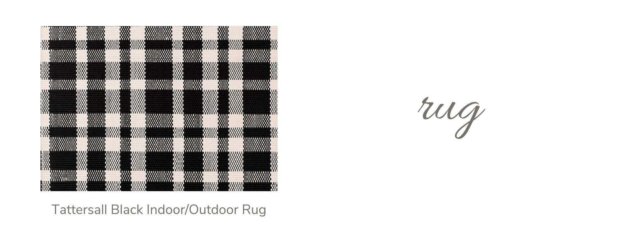 Tattersall Black Indoor/Outdoor Rug