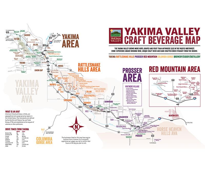 Yakima Craft Beverage Map