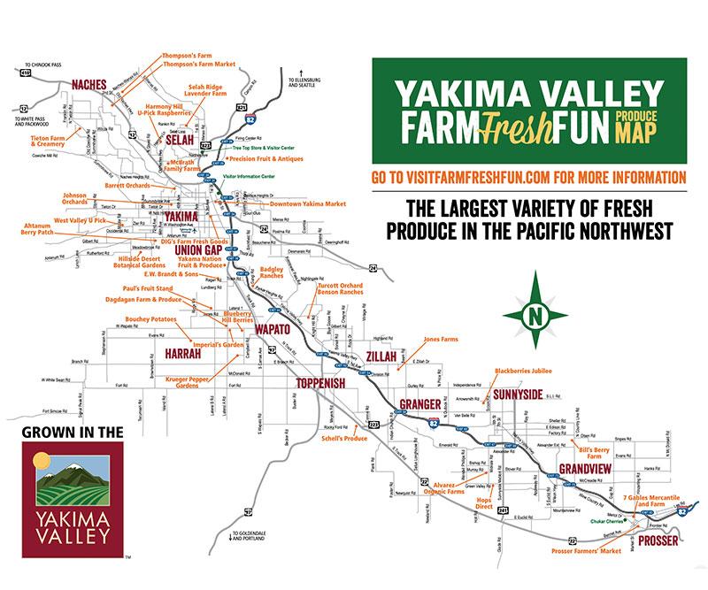 Yakima Valley Produce Map
