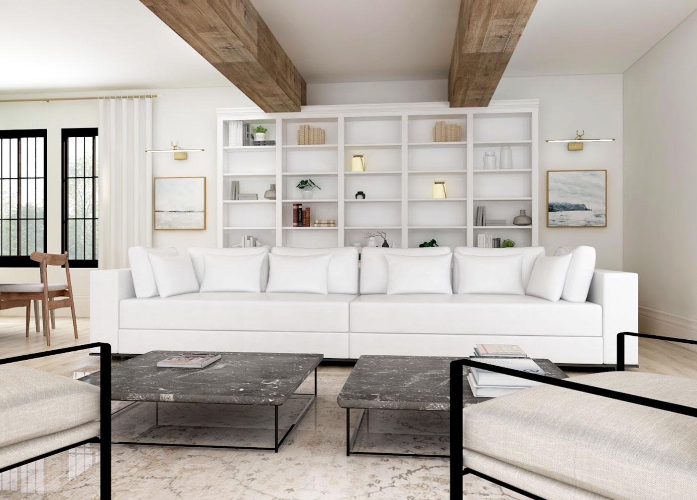 Virtual Design Rendering Living Room