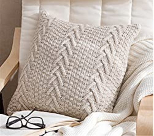 ANDUUNI Decorative Cotton Knitted Pillow Case Cushion Cover
