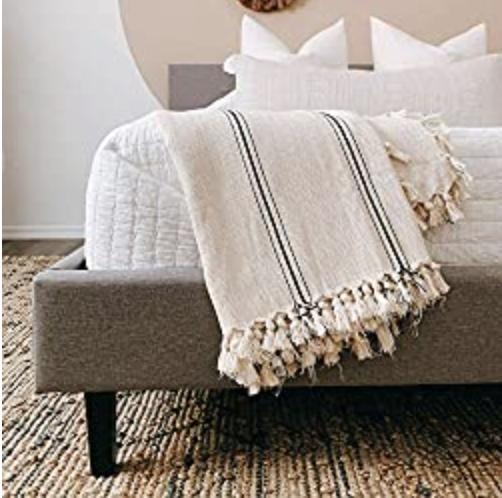 THE LOOMIA Sophie Turkish Cotton Boho Throw Blanket