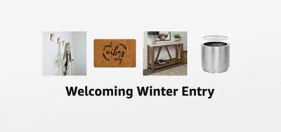 Winter Entry Decor