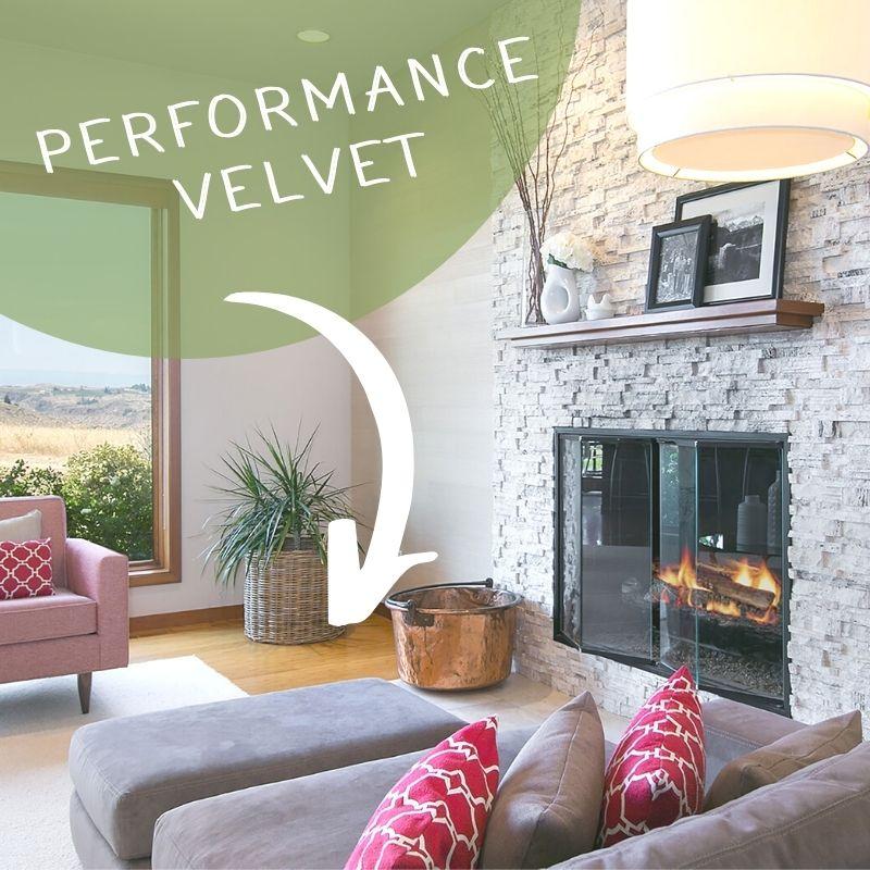 Performance Velvet Sofa