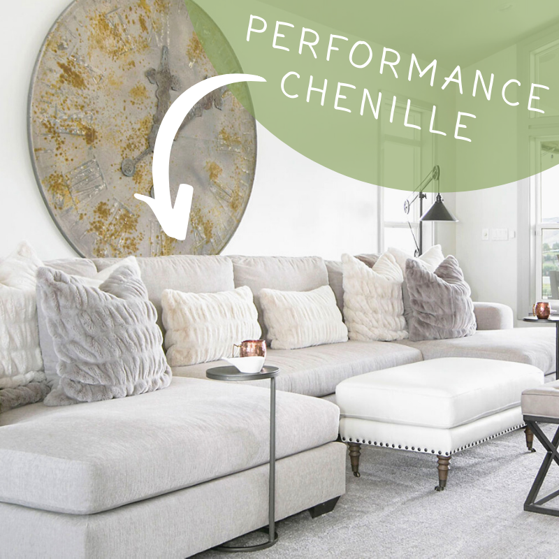Performance Chenille Fabric Couch