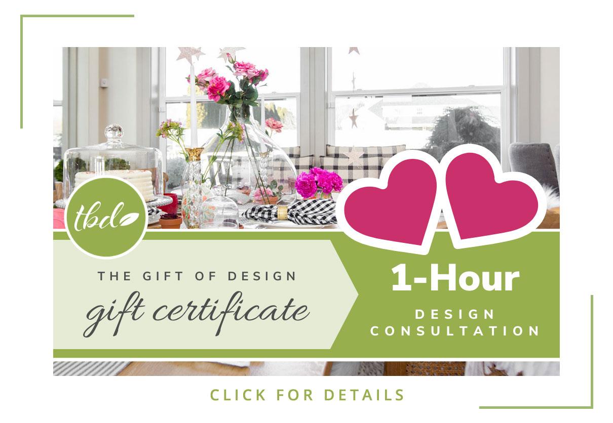 Design Consultation Gift Certificate