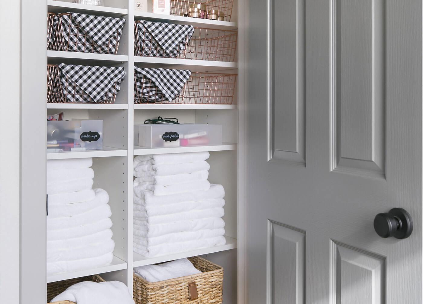 Linen Closet Organization