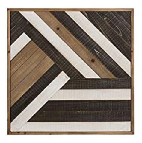 Kate and Laurel Ballez Shiplap Wood Plank Art