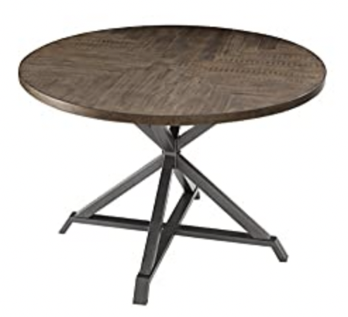 """Homelegance Fideo 45"""" Round Industrial Style Dining Table"""