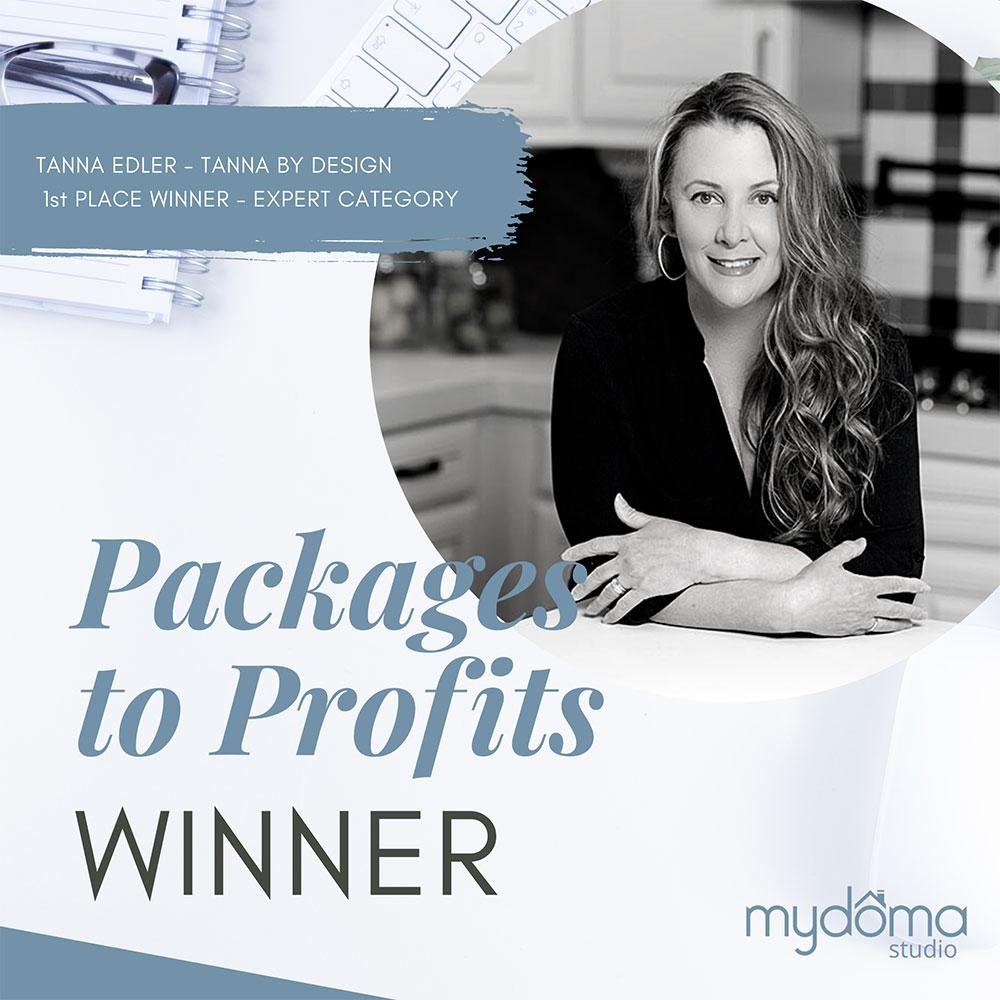 Mydoma package winner Tanna Edler