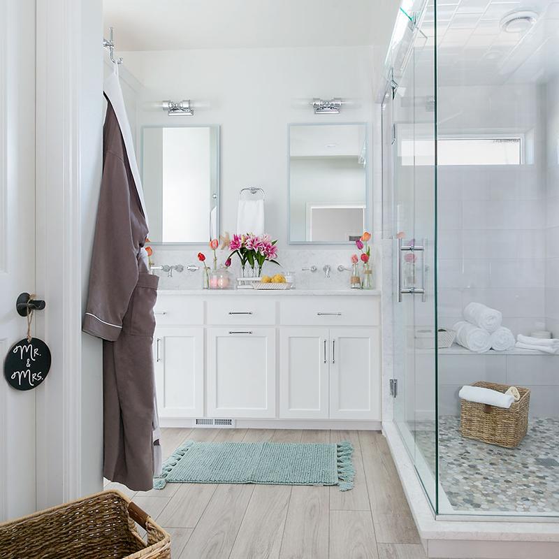 Coastal Farmhouse Master Bathroom Remodel